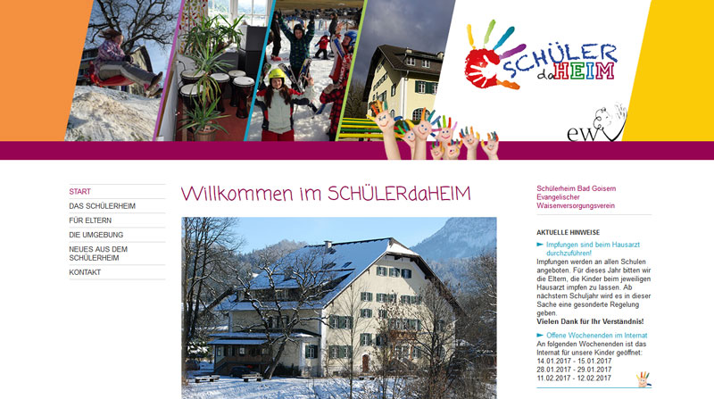 Screenshot schuelerheim-goisern.at